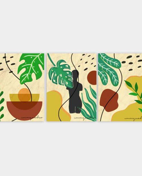 Kit Estátua Botanic - 3 Quadros 8
