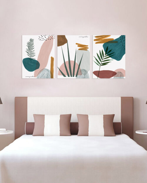 Kit de Quadros Abstract Plants - 3 Quadros 7