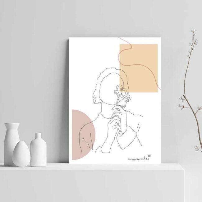 Kit Minimalist Girls - 2 Quadros 3