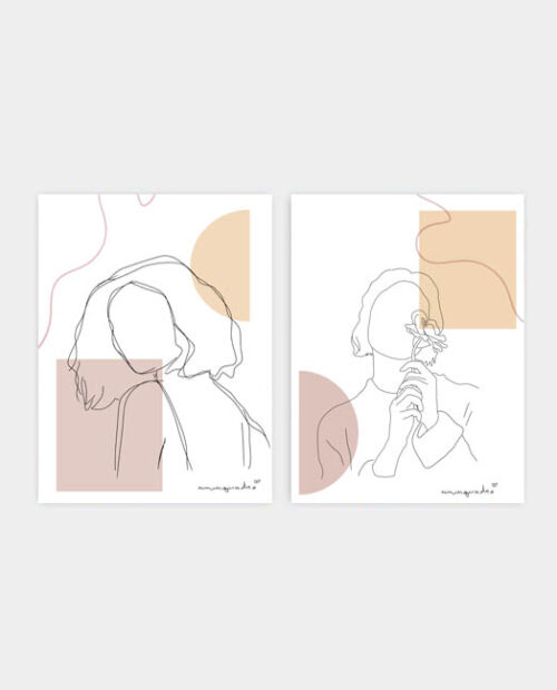 Kit Minimalist Girls - 2 Quadros 7